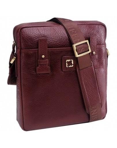 Фотография Коричневая сумка на плечо, кожаная Tifenis TF69930-2C
