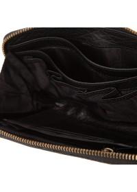 Мужской клатч кожаный черного цвета TF69997-2A