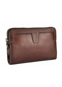 Коричневый кожаный клатч Tifenis TF69997-2C