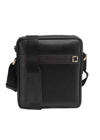 Кожаная сумка мужская на плечо, черная Tifenis TF70008-2A