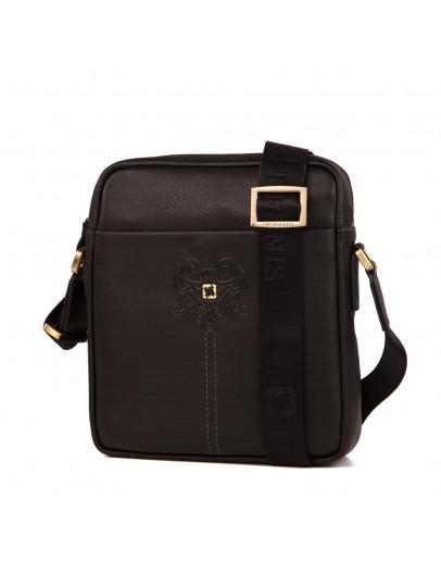 Фотография Черная мужская наплечная сумка без клапана TF70053-2A