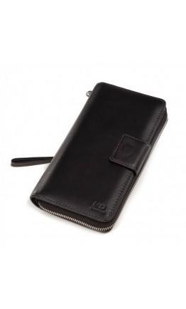 Кожаный мужской черный модный клатч TR2M-816