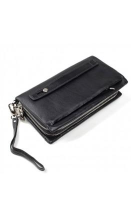 Кожаный черный клатч для мужчин TR2M-883