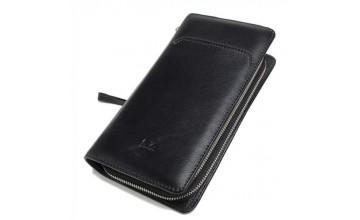 Черный клатч мужской кожаный повседневный TR2M-893