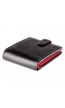 Черный кожаный кошелек Visconti TR35 Atlantis c RFID (Black Red)