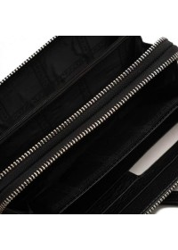 Кожаный мужской клатч черного цвета TR5M-895