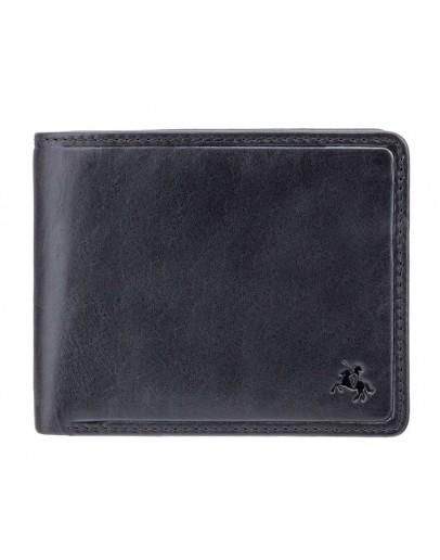 Фотография Черный кожаный кошелек Visconti TSC46 Francesca c RFID (Black)