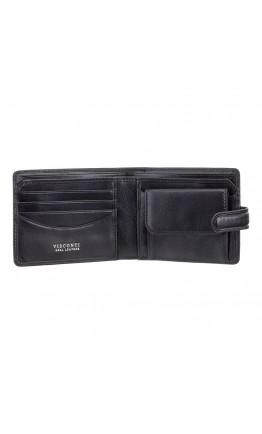 Черный кожаный кошелек Visconti TSC47 Riccardo c RFID (Black)