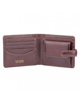 Коричневый кожаный кошелек Visconti TSC47 Riccardo c RFID (Brown)