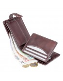 Фотография Коричневый кожаный кошелек Visconti TSC48 Filipo c RFID (Brown)