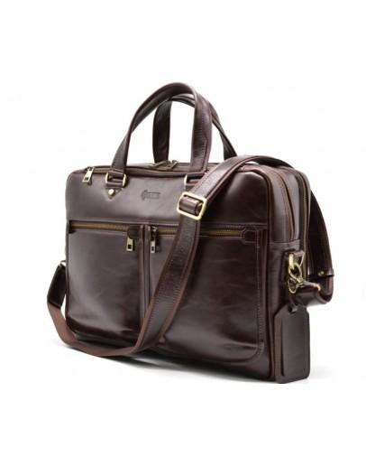 Фотография Кожаная мужская деловая сумка Tarwa TX-4664-4lx