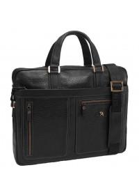 Мужская сумка для ноутбука, черная кожаная Tifenis Tf69886-6A