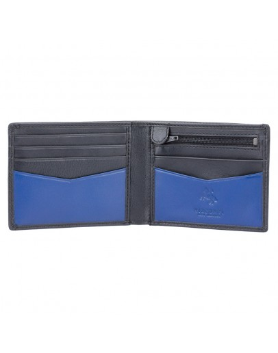 Фотография Кожаный черный кошелек Visconti VSL20 Sword c RFID (Black Cobalt)