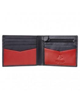 Черный кожаный кошелек Visconti VSL20 Sword c RFID (Black Red)