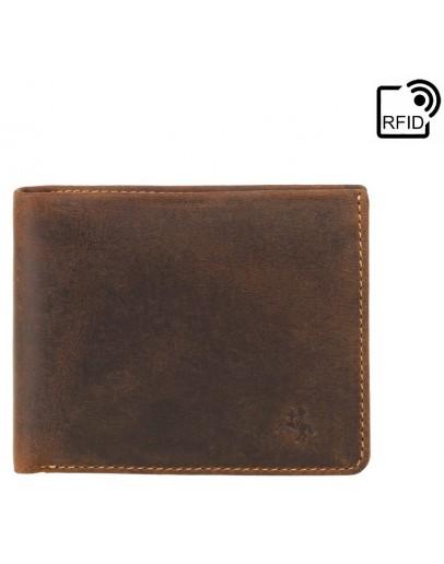 Фотография Коричневый мужской кошелек Visconti VSL33 TAP-N-GO c RFID (Oil Tan)