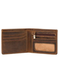 Коричневый мужской кошелек Visconti VSL33 TAP-N-GO c RFID (Oil Tan)