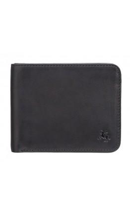Кожаный черный кошелек Visconti VSL35 Trim c RFID (Black-Orange)