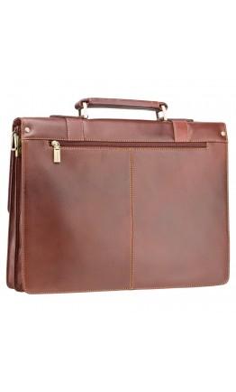 Мужской портфель коричневый кожаный Visconti VT6 Bennett (Brown)