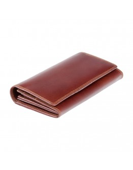 Женское кожаное портмоне Visconti MZ10 Florence c RFID (Italian Brown)