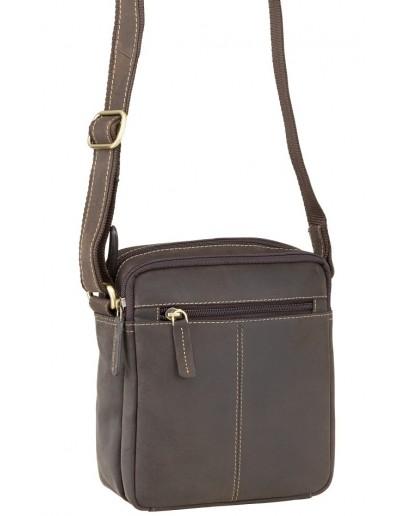 Фотография Мужская коричневая сумка, кожаная Visconti S8 (oil brown)