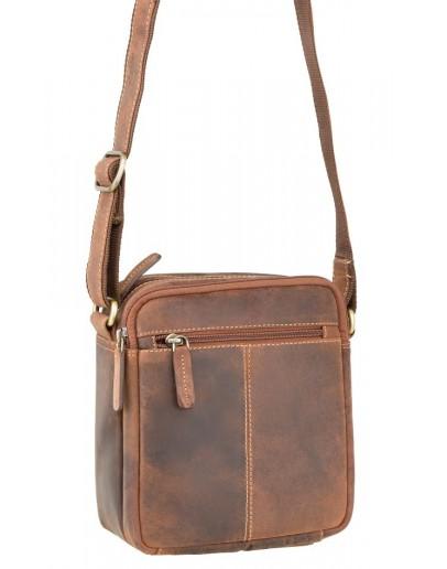 Фотография Мужская сумка на плечо, песочная Visconti S8 (oil tan)