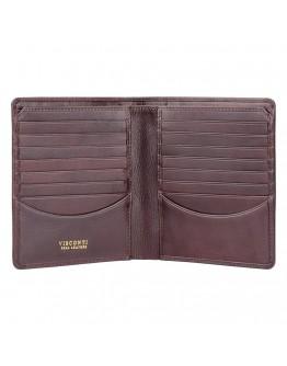 Коричневый кожаный кошелек Visconti TSC49 Matteo c RFID (Brown)