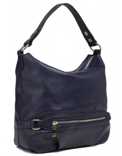 Фотография Женская кожаная синяя сумка W108-9803NV