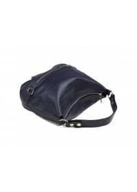 Женская кожаная синяя сумка W108-9803NV