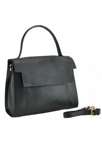 Женская черная кожаная сумка W12-806A