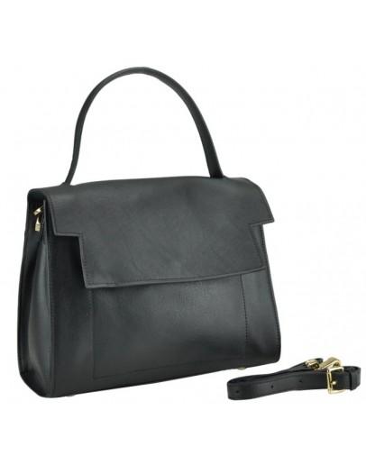 Фотография Женская черная кожаная сумка W12-806A