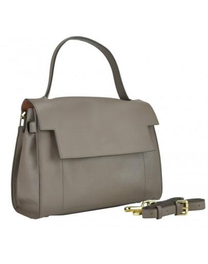 Фотография Бежевая женская кожаная сумка W12-806BG