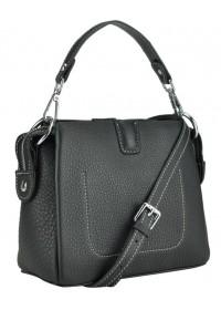 Черная женская небольшая кожаная сумка W14-9918A