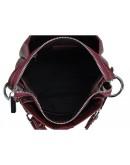 Фотография Кожаная женская бордовая небольшая сумка W14-9918B