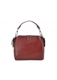 Кожаная женская бордовая небольшая сумка W14-9918B