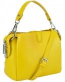 Фотография Желтая женская кожаная небольшая сумка W14-9918Y