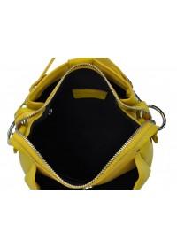 Желтая женская кожаная небольшая сумка W14-9918Y