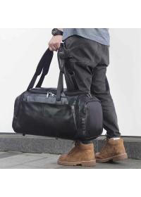 Кожаная мужская дорожная сумка трансформер X-6010A