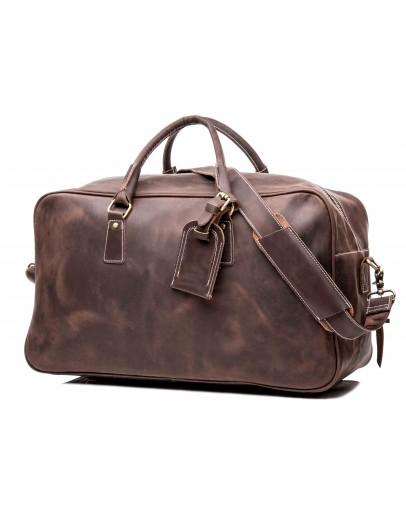 Фотография Дорожная вместительная мужская коричневая сумка X7037
