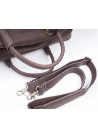 Дорожная вместительная мужская коричневая сумка X7037