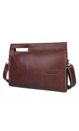 Кожаная черная мужская вместительная сумка на плечо Tarwa GA-6046-3md