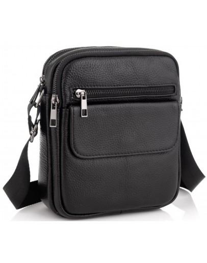 Фотография Мужская плечевая сумка, черный цвет A25-1108A