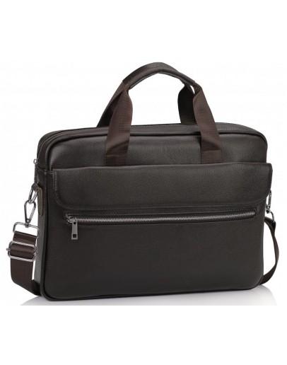 Фотография Коричневая городская кожаная сумка Tiding A25-1127C