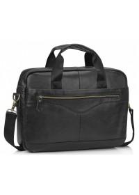 Черная сумка для документов кожаная Tiding A25-1128A