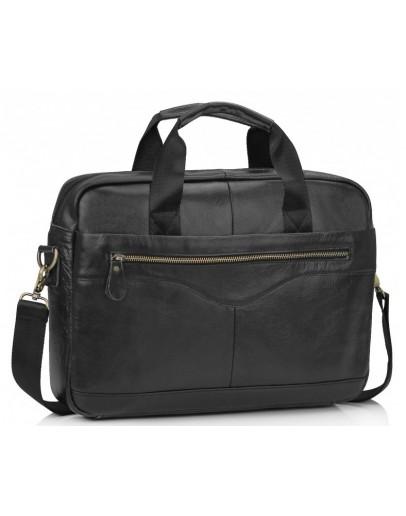 Фотография Черная сумка для документов кожаная Tiding A25-1128A