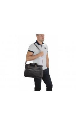 Коричневая сумка городская кожаная A25-1128C