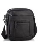 Фотография Черная сумка на плечо, мужская кожаная A25-223A