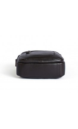 Черная сумка на плечо, мужская кожаная A25-223A