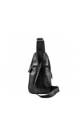 Мужской черный кожаный слинг A25-5424A