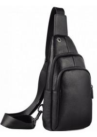Слинг черный мужской кожаный A25F-001-1A