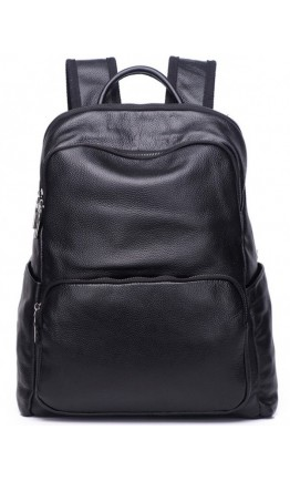 Рюкзак мужской кожаный черный A25F-11682A